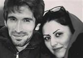 آرش صادقی و همسرش