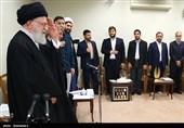 دیدار دانشجویان بسیجی مدالآور دانشگاه شریف با مقام معظم رهبری