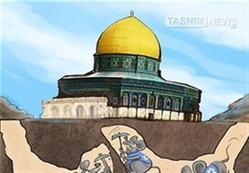 کاریکاتیر.. أنفاق الجرذان تحت المسجد الأقصى