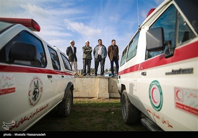 ایران کے شہر گرگان میں زلزلہ سے بچاؤ کی مشقیں