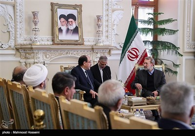 لقاء علی لاریجانی ونوری المالکی