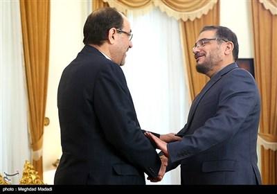 نوری المالکی یلتقی علی شمخانی فی طهران