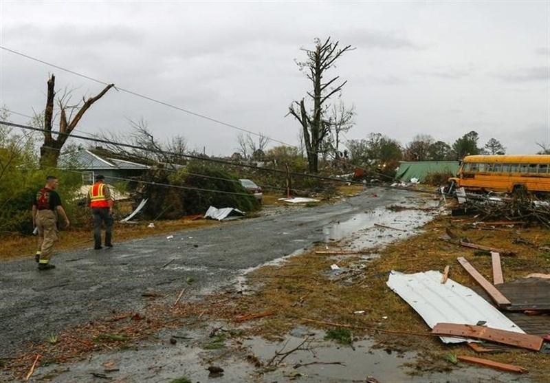 مصرع وإصابة العشرات بإعصار قوی ضرب جورجیا الأمریکیة