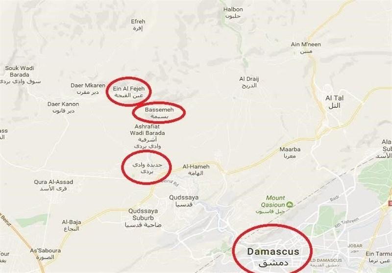 درگیری شدید نیروهای گارد ریاست جمهوری با تروریستها / «بسیمه» در حومه دمشق آزاد شد