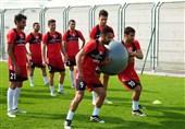 امید ابراهیمی و تمرین تیم ملی فوتبال