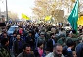 تشییع شهید مدافع حرم در ورامین