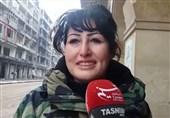 سوریه/ دختر رزمنده سوری همراه با ارتش