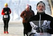 عکس / مسابقه دو در هوای منفی 24 درجه سانتیگراد روسیه