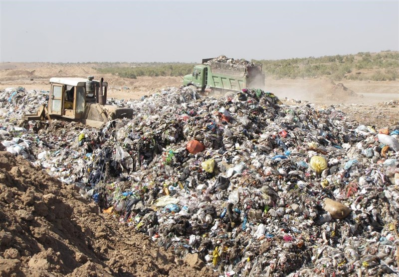 چاله زباله ابوزیدآباد آران و بیدگل
