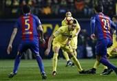بارسلونا با ضربه آزاد مسی از شکست نجات یافت