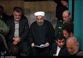 فیلم/ حضور روحانی در مراسم وداع با پیکر آیتالله هاشمی رفسنجانی