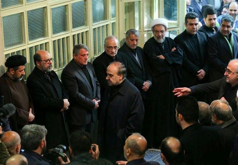 حضور مسئولان ورزشی در مراسم وداع با پیکر آیتالله هاشمی رفسنجانی