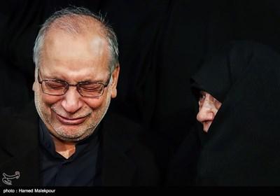 عفت و حسین مرعشی در مراسم وداع با پیکر آیت الله اکبر هاشمی رفسنجانی - حسینیه جماران