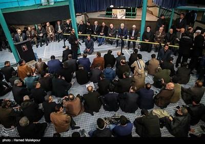 مراسم وداع با پیکر آیت الله اکبر هاشمی رفسنجانی در حسینیه جماران