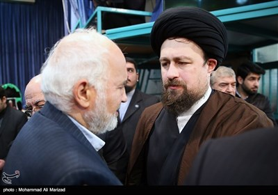 وداع با پیکر آیت الله هاشمی رفسنجانی در حسینیه جماران -3