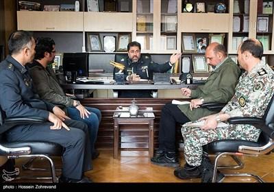 نشست خبری امیر علیرضا الهامی معاون عملیات قرارگاه پدافند هوایی خاتمالانبیا(ص)