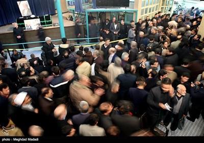 وداع با پیکر آیت الله هاشمی رفسنجانی در حسینیه جماران -4