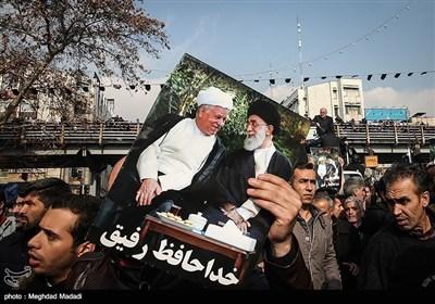 آیت اللہ ہاشمی رفسنجانی کے جنازے کی تصویری جھلکیاں