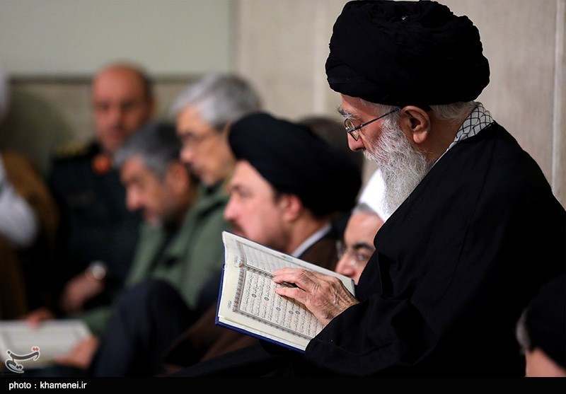 Leader Attends Memorial Service for Ex-Iranian President Rafsanjani