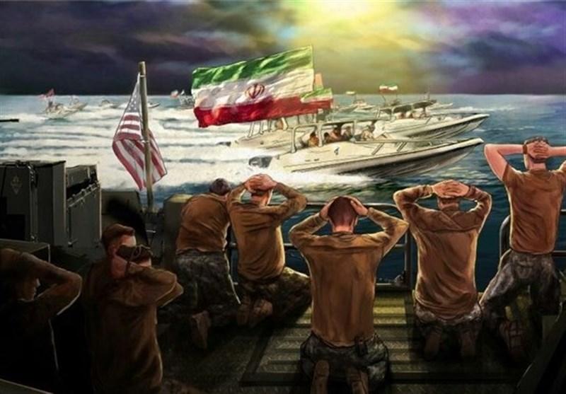 میدان ولیعصر(عج) و دیوارنگاره بزرگ بازداشت نظامیان آمریکایی