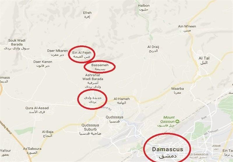 غارات عنیفة على مواقع النصرة فی ریف دمشق الغربی
