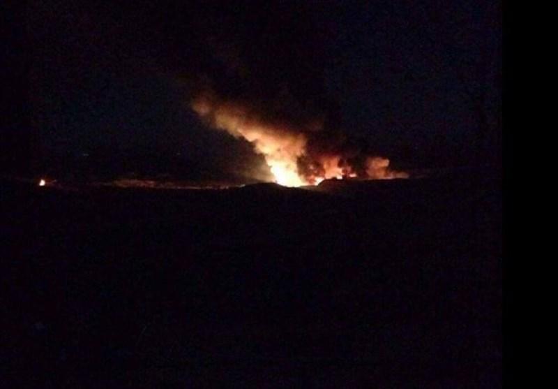 """دمشق؛ صہیونیوں کا """"المزہ"""" ایئربیس پر حملہ + تصاویر"""