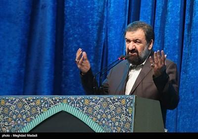سخنرانی محسن رضایی دبیر مجمع تشخیص مصلحت نظام در پیش از خطبه های نماز جمعه تهران