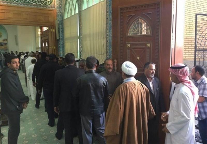 بالصور.. عوائل شهداء البحرین تستقبل العزاء والتهانی