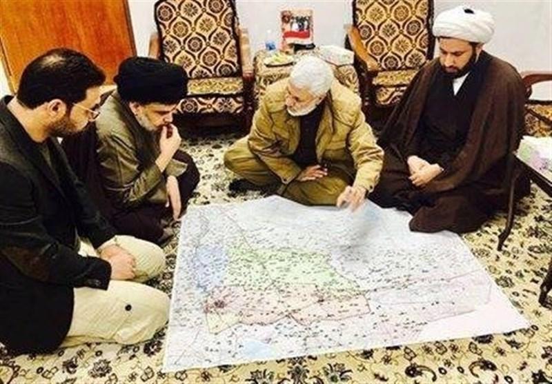 المهندس یناقش مع الصدر الوضع الامنی والاخیر یشید بالحشد الشعبی