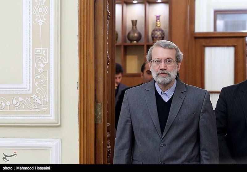 دیدار عماد خمیس نخست وزیر سوریه با علی لاریجانی رئیس مجلس