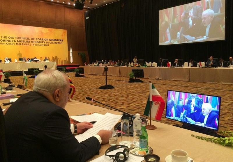 ظریف: خلافات العالم الاسلامی لن تحیدنا عن دعم مقاومة الفلسطینیین
