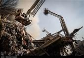 کمکرسانی نیروهای سپاه پاسداران به مجروحان و مصدومان ساختمان پلاسکو
