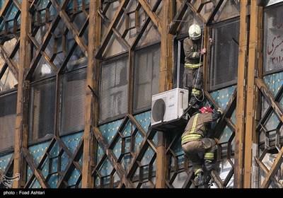 فرو ریختن ساختمان پلاسکو در پی آتش سوزی - 2