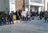 هماکنون حضور مردم در محل انتقال خون خیابان وصال برای کمک به مجروحین حادثه پلاسکو