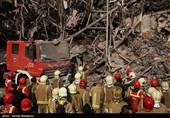 فرو ریختن ساختمان پلاسکو در پی آتش سوزی - 1