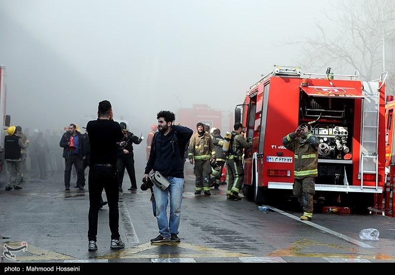 آتشسوزی دوباره در تهران، این بار در نزدیکی سفارت روسیه + عکس