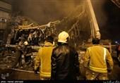 ادامه عملیات امداد رسانی حادثه پلاسکو