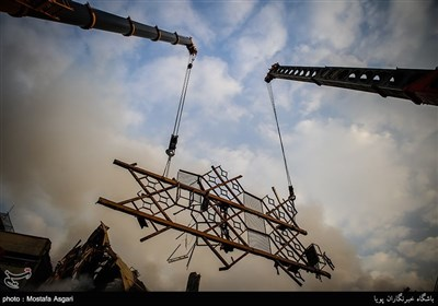 Rescue Work Continues Following High-Rise Collapse in Tehran