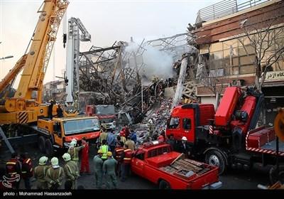 تہران پلاسکو حادثہ؛ امدادی کاروائیاں جاری