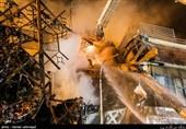 عملیات امداد رسانی حادثه ساختمان پلاسکو