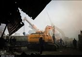 عملیات آوار برداری ساختمان پلاسکو