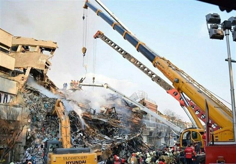 اخراج جثة واحدة حتى الان من موقع انهیار برج بلاسکو