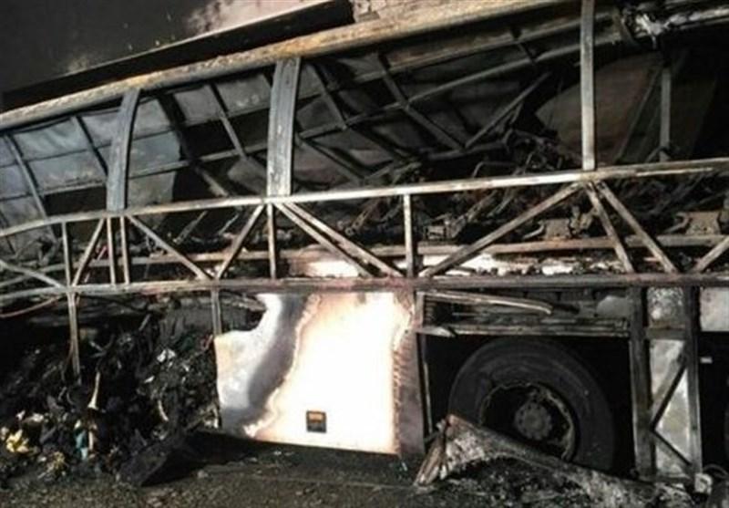 اتوبوس سوخته