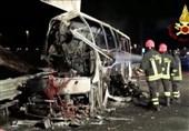 فیلم/برخورد اتوبوس دانشآموزان با دکل برق با 16 کشته