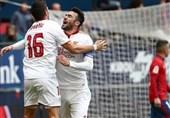 سویا با پیروزی جایگاه بارسلونا را تصاحب کرد