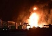 آتشسوزی گسترده در یک پالایشگاه پتروشیمی ژاپن + فیلم