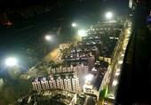 فیلم/لحظه تخریب همزمان 19 ساختمان