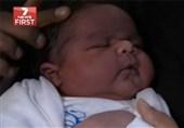 تولد نوزاد 6 کیلو و 60 گرمی+فیلم و عکس