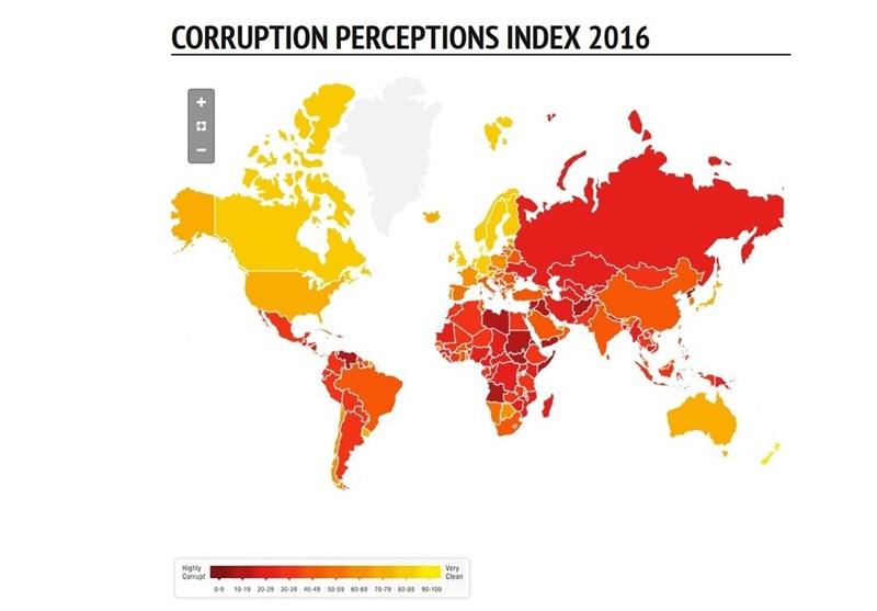 بهبود نمره ایران در شاخص ادراک فساد/ کسب رتبه 131 بین 176 کشور