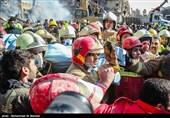 """العثور على جثامین 3 شهداء آخرین من رجال الإطفاء تحت انقاض مبنى """"بلاسکو"""""""